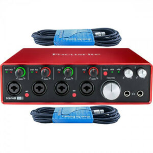 focusrite scarlett 18i8 bundle 2nd gen usb audio interface w cables pro tools ebay. Black Bedroom Furniture Sets. Home Design Ideas