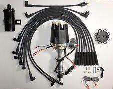 item 4 small cap ford fe 352-390-427-428 black hei distributor + 45k coil +  plug wires -small cap ford fe 352-390-427-428 black hei distributor + 45k  coil +