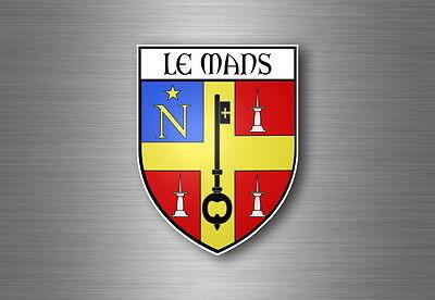 Sticker decal souvenir car coat of arms shield crest city france flag chamonix