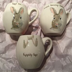 3-New-Rae-Dunn-Easter-Bunny-Mugs-Hop-On-Some-Bunny-Loves-Me-Hippity-Hop-Pink