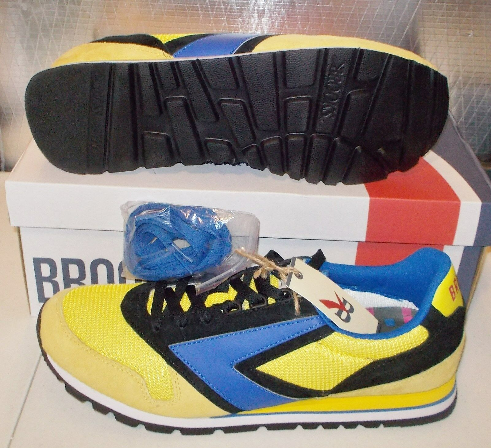 NEW BROOKS CHARIOT Lemon  Herren D Medium Limited Width Vintage Retro NIB Limited Medium NR 1f6bc1