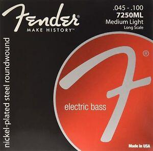 Jeu-de-cordes-basses-FENDER-7250ML-45-a-100-nickel-long-guitare-basse