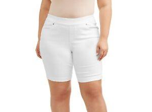 4X 28W-30W Women/'s Plus Size Stretch Denim Pull On Shorts