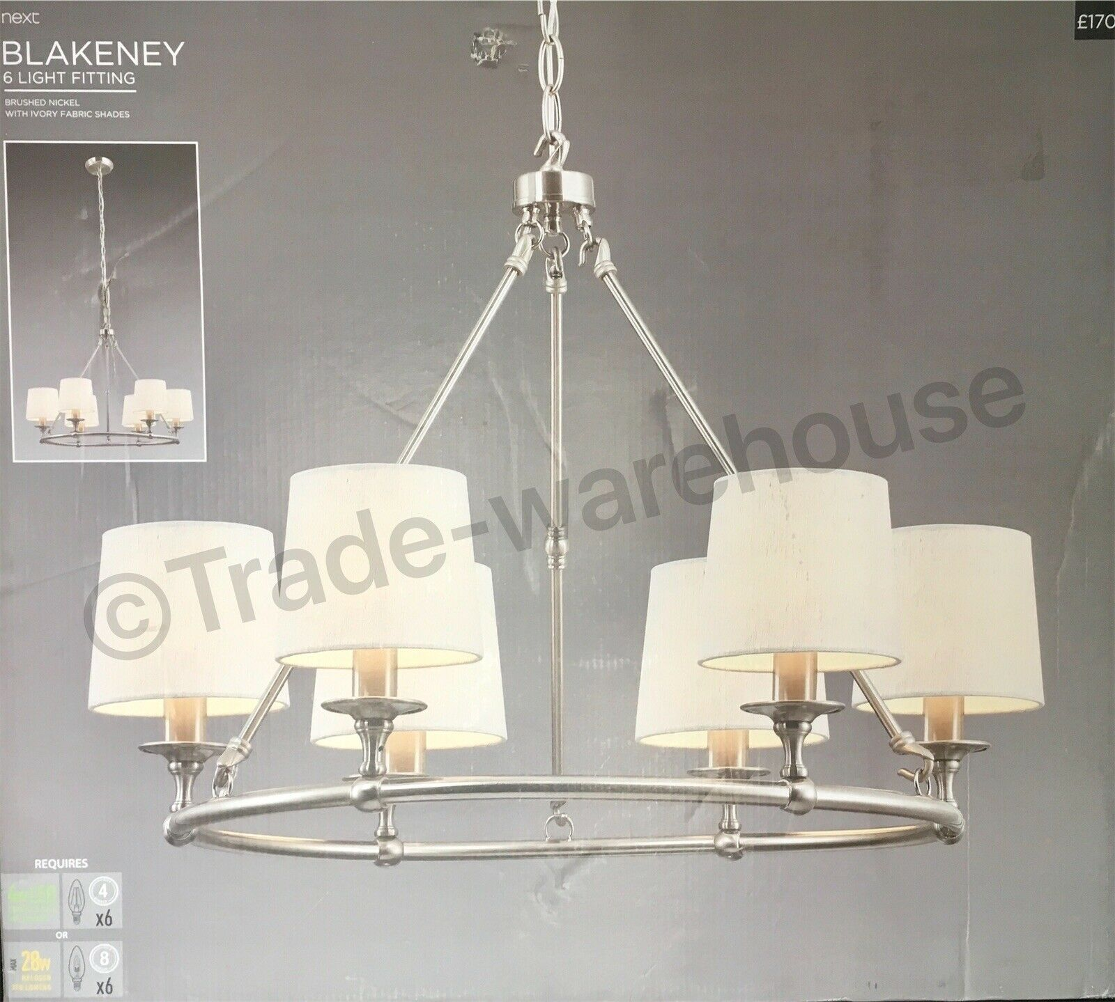 Next Blakeney 6 Light Fitting Brand New In Sealed Box r1