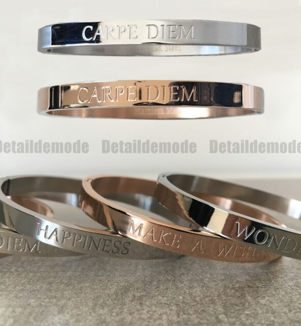 clearance prices good selling huge sale Armband Armreif Nachricht Carpe Diem,Get Lucky,Make A Wish (Armreif  Bracciale