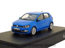 VW Polo 6R GP Facelift 1:43 Cornflowerblue 2014 Volkswagen Modellauto Blau