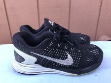 94c41333fcbc EUC Nike Womens Lunarglide 7 747356-001 Size US 7.5 Running Shoes Black  White A2