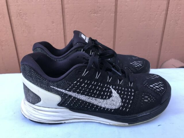 new release many styles latest discount EUC Nike Womens Lunarglide 7 747356-001 Size US 7.5 Running Shoes Black  White A2