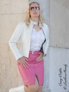 lederrock leder rock pink knielang zipper ma anfertigung. Black Bedroom Furniture Sets. Home Design Ideas