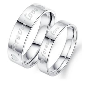 Anello-Coppia-Fedine-Fidanzamento-Acciaio-Amore-Cuore-Spezzato-Love-Idea-Regalo