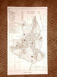 Carta-cartina-o-Pianta-della-Citta-di-Siena-del-1863-Toscana