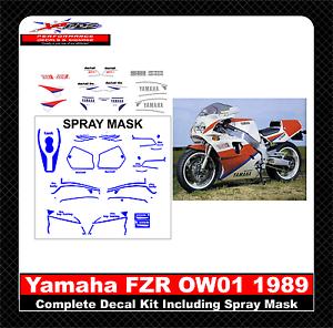 1989-Yamaha-FZR-OW01-Decal-Kit-Including-Spray-Masks