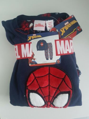 Spiderman Boys kids childrens warm fleece pyjamas set Primark 1-7 years old
