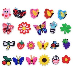 Girl-Gifts-22pcs-Shoe-Charms-Adapts-Butterfly-Flowers-Fruit-Cactus-For-Bracelet