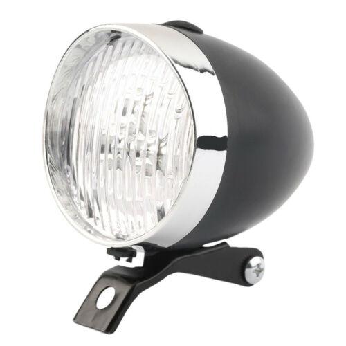 Classic LED Vintage Bike Headlight Bicycle Retro Head Light Front Fog Lamp