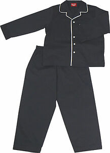 PYJAMA-SUIT-SLEEPWEAR-100-COTTON-NAVY-BLUE-WITH-WHITE-PIPING-3-5-YRS