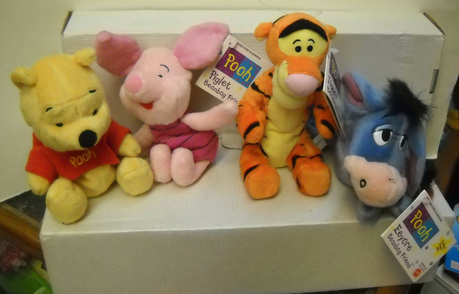 7559 Mattel Winnie The Pooh 4-Pooh & Friends Puf amigos
