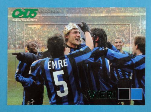 INTER -New E4 Figurina//Sticker -n CALCIO CARDS 2005 Panini VIERI