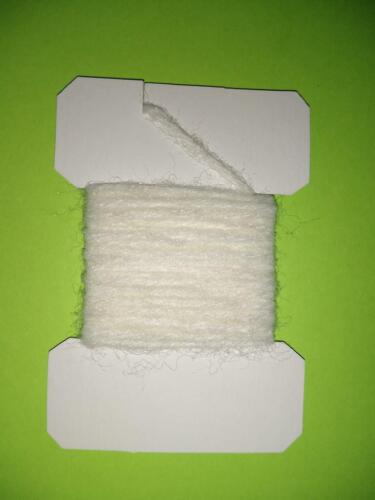 Card of 3 Yards of Lafontaine Antron Sparkle Yarn White Fly Tying Material