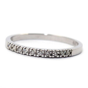 GENUINE-NATURAL-DIAMOND-ETERNITY-WEDDING-RING-0-1ct-SOLID-9K-WHITE-GOLD