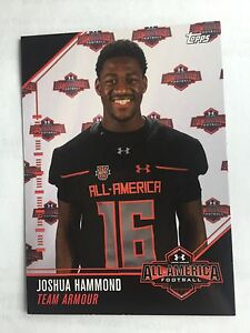 Joshua Hammond 2016 Topps Under Armour All America Football Card Florida Gators