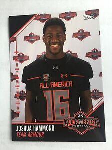 Joshua Hammond 2016 Topps Under Armour All America Football Card Florida Gators