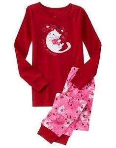 image is loading nwt gymboree gymmies girls purr fect heart valentine - Valentines Day Pajamas
