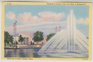 card-State-Fair-at-Texas-Dallas-Fountain-in-Lagoon-Fine-Arts-Bldg