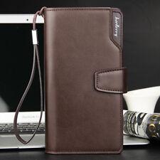 Men's Brown Wallet Casual Purse Clutch Bag Leather Long Wallet Gift Idea for Men