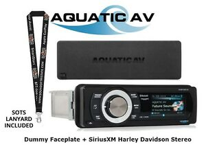 AquaticAV-SiriusXM-Bluetooth-Harley-Davidson-Stereo-amp-Dummy-Faceplate-Dust-Cover