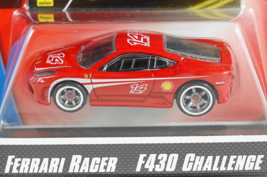 contador genuino Hot Wheels 2008 Ferrari Racer Racer Racer  9 - desafío F430-Rojo  14  edición limitada