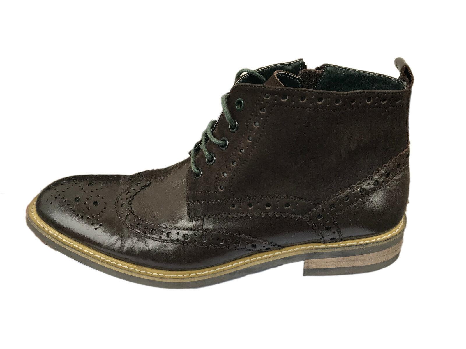 Premium Leather Mens Shoes JUSTIN REECE MATTHEW Boots Brogues UK 12-12.5 EU 48