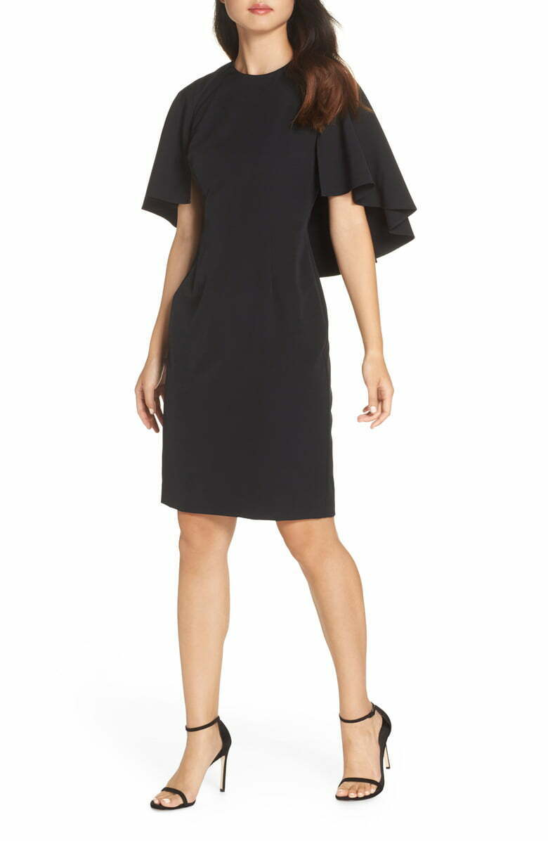 ELIZA J Cape Sleeve Dress (Größe 14)