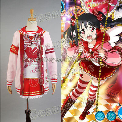 Love Live!Nico/Niko Yazawa COSplay Costume Valentine's Day Dress Outfit Uniform