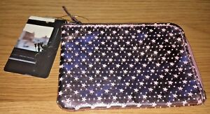 NWT-URBAN-OUTFITTERS-COOPERATIVE-WALLET-HALF-ZIP-STAR-DESIGN-FAUX-LEATHER
