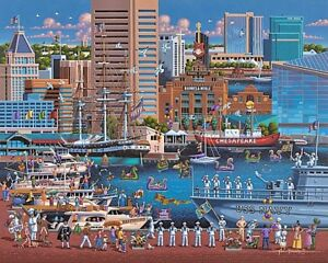 DOWDLE FOLK ART COLLECTORS JIGSAW PUZZLE BALTIMORE MARYLAND 1000 PCS #10244