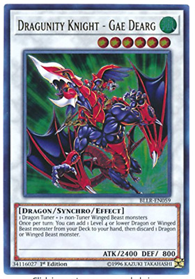 Dragunity Knight Gae Dearg BLLR-EN059 Ultra Rare Yu-Gi-Oh Card English  New
