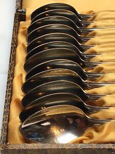 12-DDR-Kuchenloeffel-ABS-rostfrei-18-8-klassisches-Muster-14-5-cm-mit-Kasten