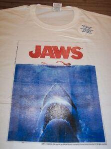 VINTAGE-STYLE-JAWS-Movie-T-Shirt-XL-Shark-NEW