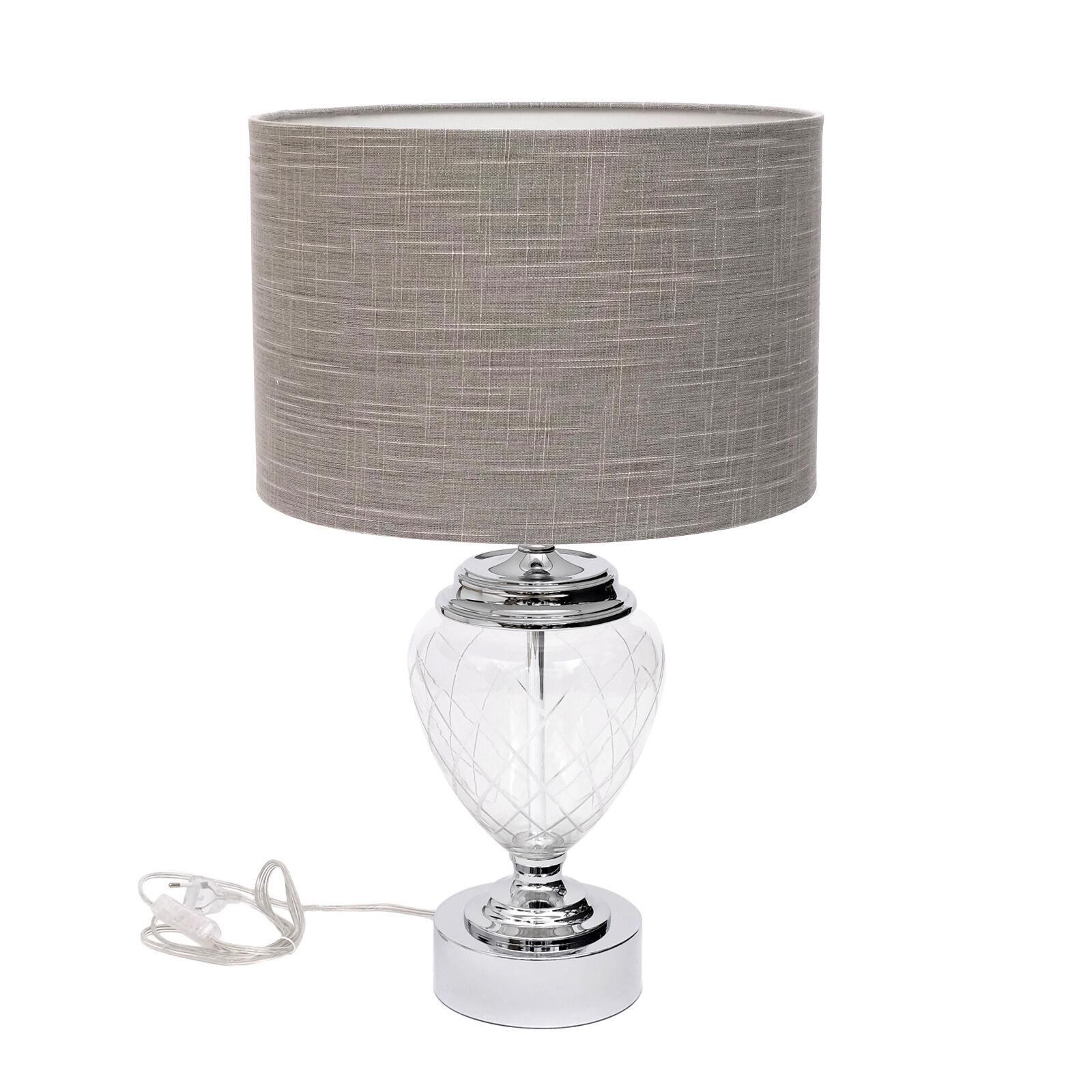 Design Lampe de de de chevet Lampe de table métal boite verre Lamp abat-jour tissu | Aspect Attrayant  1ab11d