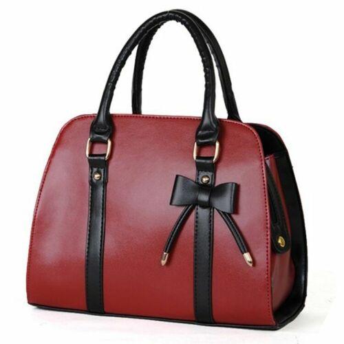 New Women Messenger Shoulder Bag Fashion Satchel Bow-knot Handbags Purse Totes