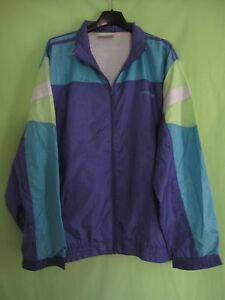 Détails sur Veste Adidas Team Nylon Polyamide 90'S Violette verte Vintage Jacket 186 XL