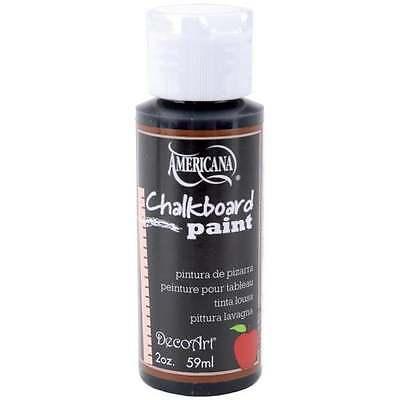 DecoArt Americana    CHALKBOARD PAINT    2 oz Bottle Slate Black