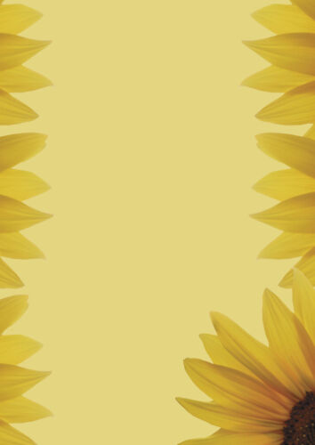 Motivpapier Briefpapier 20 Blatt DIN A4 Sonnenblume Blumen Blüten  Einladung