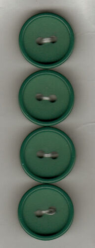 CARD of  4-2 HOLE BUTTONS 16mm Q3 GREEN