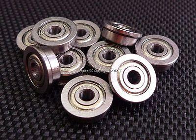 (12 Pz. ) F623zz (3x10x4 Mm) Metallo Flangia Schermato Cuscinetto A Sfera 3 10 4