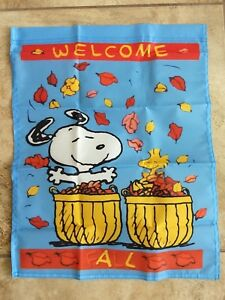Peanuts Snoopy Welcome Fall 14x18 Inches Garden Flag Autumn Ebay