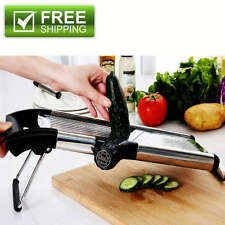 Stainless Steel Mandoline Slicer Adjustable Blades Kitchen Food Vegetable Cutter