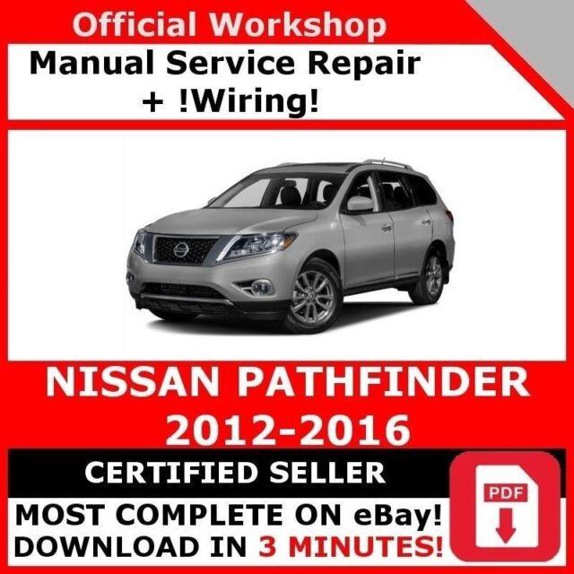 Factory Work Service Repair Manual For Nissan Pathfinder 2017 2016 Wiring