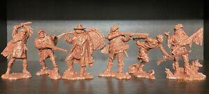 Publius Trappers (pionniers) Set 1 brun-rouge 1:32 Caoutchouc Plastique